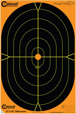 18 Orange Peel® Oval And Silhouette Targets