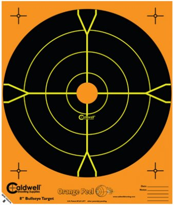 8 Orange Peel® Bullseye Targets