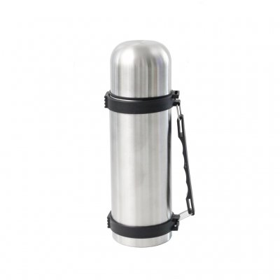 Steel thermos 750ml with handle