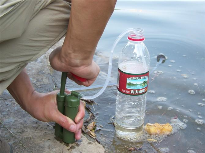 Splitter nya Z-aim portabelt vattenfilter för vandring, friluftsliv, jakt HY-85